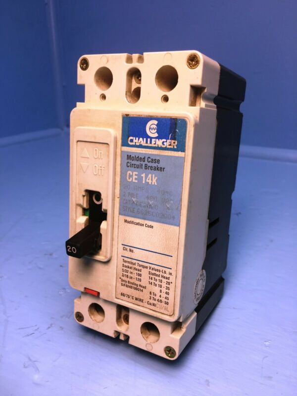 Challenger CE2020 20A Circuit Breaker 480V CE2020L Cutler-Hammer Eaton 20 Amp