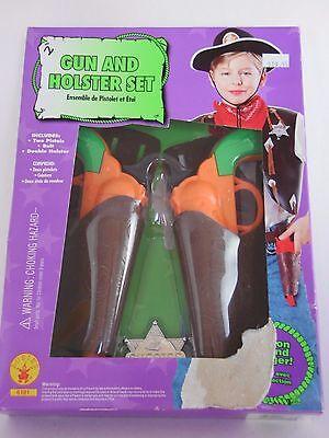 Cowboy Gun Holster Halloween (Child Cowboy Gun & Holster Set Gift Party Halloween Costume Dress Up)
