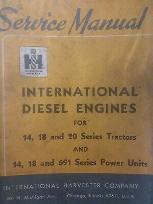 International Tractor Crawler Ih Td 14 18 20 691 Ud Diesel Engine Service Manual
