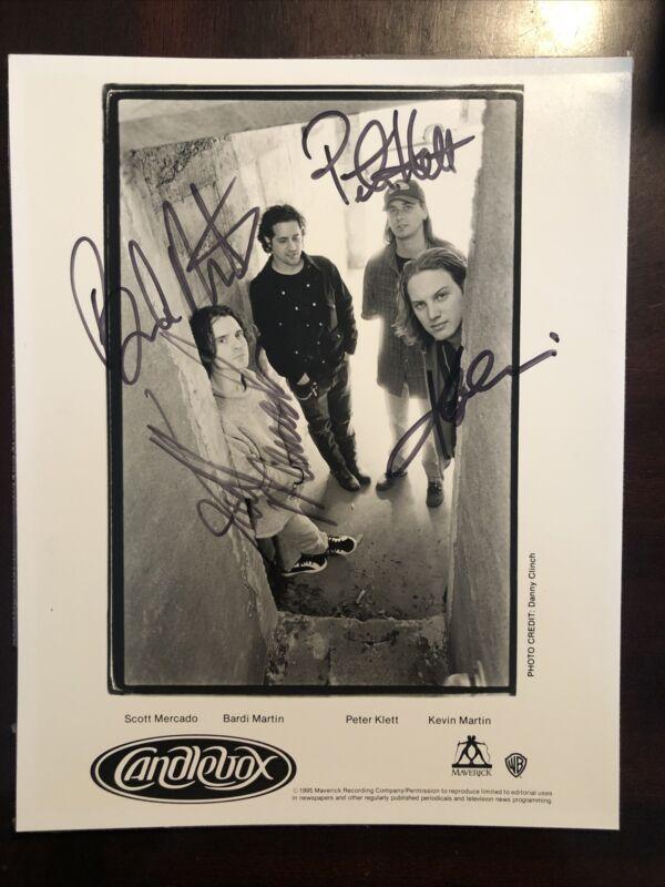 CANDLEBOX 1995 Maverick Records Signed Autograph AUTO Press Photo GUARANTEED !!!
