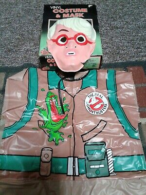 Ben Cooper REAL GHOSTBUSTERS EGON SPENGLER Large Vinyl Costume, Box, Mask! 1989 - Real Ghostbusters Halloween