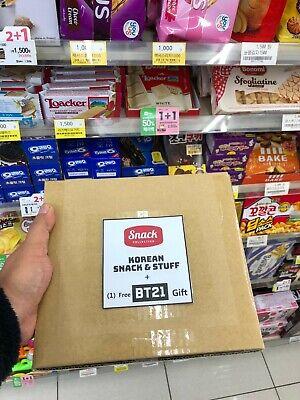 NEW Favorite Korean Random Snack Box Chips/Pies/Jellies/Candies/Snacks+BTS BT21