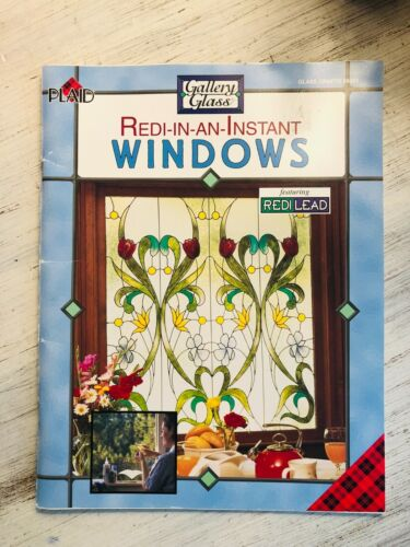 Plaid Gallery Glass Redi-In-An-Instant Windows Book & Pattern Glass Crafts #9451