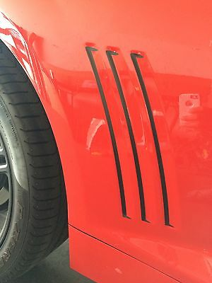 Chevrolet Camaro SS,RS,LS Side Vent Gill Inserts Vinyl Decal Stripes 2010-2016