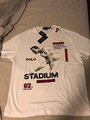 Polo Ralph Lauren Stadium 1992 Collection Re-Release Cotton Jersey NWT Size M