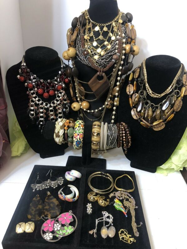 huge vintage to now jewelry lot All Wearable 3 LBs