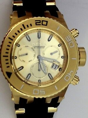 INVICTA Specialty Gold Plated All SS #22365 Subaqua Chronograph Watch