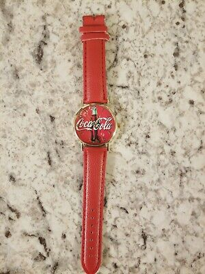 Coca cola watch, brand new, red strap, perfect for collecters.