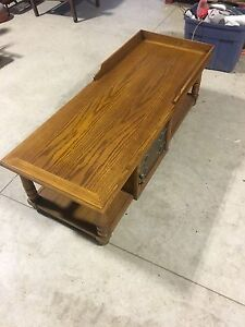 Wooden coffee table with stained glass London Ontario image 2