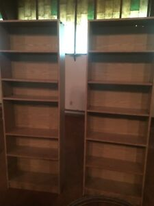 Wooden book shelves-like new-set of two