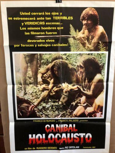 CANIBAL HOLOCAUSTO Original Folded Movie Poster 27x41 SPANISH 1980