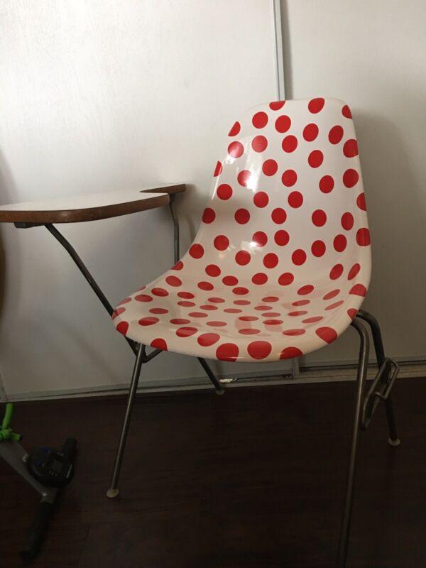 Mid Century Modern Eames Herman Miller Student Desk Chair, Fiberglass