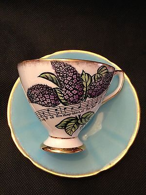 Taylor & Kent American State Flower Series New Hampshire Lilacs Cup & Saucer