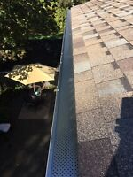 Eavestrough cleaning + gutter guard installation