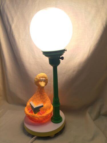 Sesame Street Big Bird Table Lamp Jim Henson Muppets VTG 70s WORKS w/ ORG GLOBE