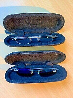 Pair [2] of Oakley WHY 3 Prescription Rimless Frames RX Titanium / RARE