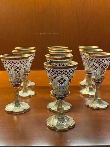 Antique Bohemian Cordial Glasses