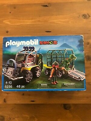 New Playmobil Dinos 5236 T Rex Vehicle Loader NEW for sale  Shipping to Canada