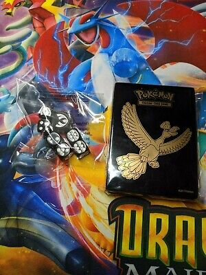 Pokemon Ho-Oh 65 Card Sleeves & Dice from Shining Legends ETB NEW