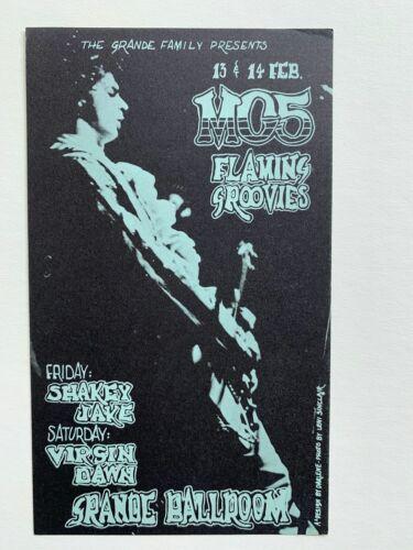 1970 MC5 Flaming Groovies at the Grande Ballroom Original Postcard