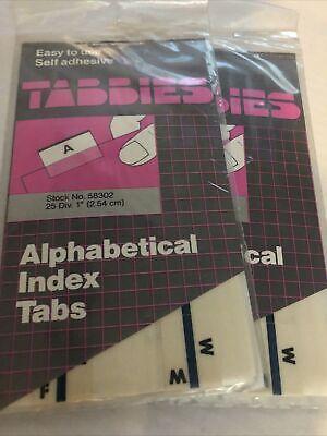 Lot X2 Vintage Alphabet Index Tabs Self-adhesive 58302