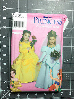 Simplicity #9902 ~ Costume Pattern Disney Belle Ariel Princess Girls 3-8 ~ FF UC (Plus Size Princess Belle Costume)
