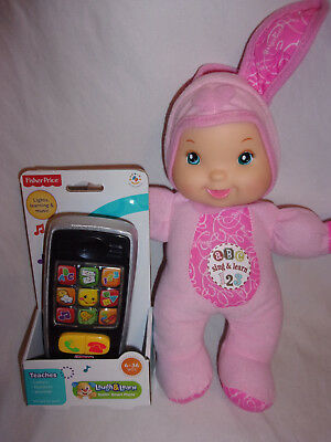 "ABC 123 Sing & Learn Baby First Goldbergertoy Doll 14"" Learn & Laugh Phone Toy"