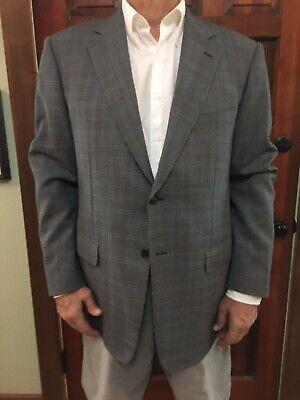 Pal Zileri Made in ITALY Dark Blue / Gray Checked Blazer 44 R