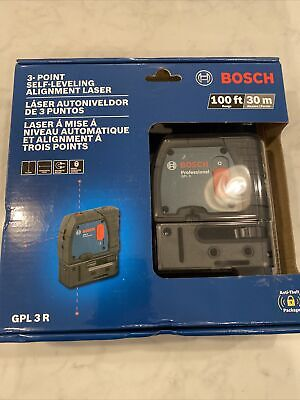 Brand New Bosch Gpl 3 R 3-point Alignment Laser Level Free Shipping