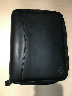 Franklin Covey Classic Spacemaker Planner Binder Black Leather