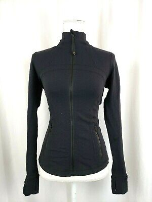 LULULEMON Womens Size 6 Score Jacquard Black Hero Blue Define Jacket Full Zip