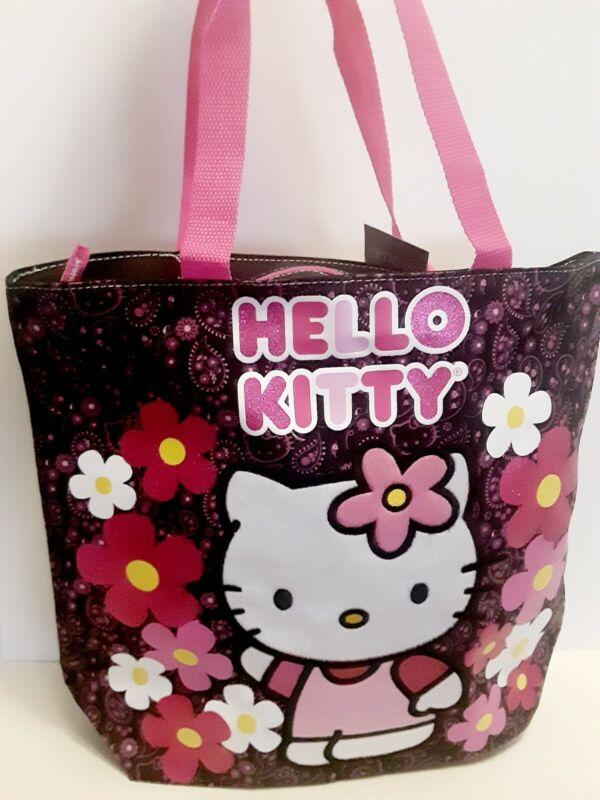 SANRIO Hello Kitty Black  Canvas Tote Bag Dance bag Overnight Bag New Authentic