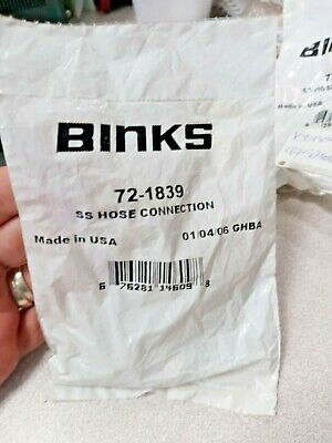 Binks 72-1839 14 Ss Hose Connection Lot Of 2