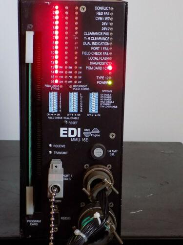 EDI MMU-16E TRAFFIC LIGHT 16 CHANNEL CONFLICT Monitor