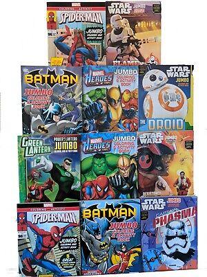 Batman Spider-Man Star Wars Green Lantern Marvel DC Jumbo Coloring Activity Book](Colorful Spider)