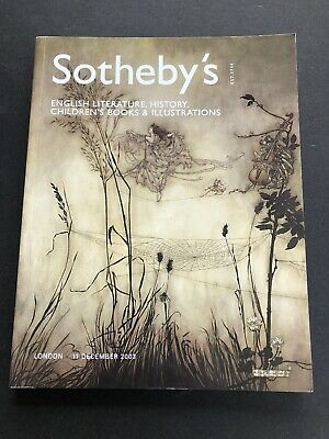 Sotheby's Auction Catalog 2003 London ENGLISH LITERATURE HISTORY CHILDREN'S Book