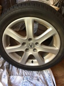 Acura tsx stock rims on Dunlop signature P215/50r17 tires