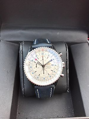 Breitling Navitimer World Gmt Chronograph Auto Men Watch A24322