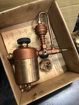 Antique Brass Swift Lubricator Oiler Hit Miss Steam Engine Original Instructions