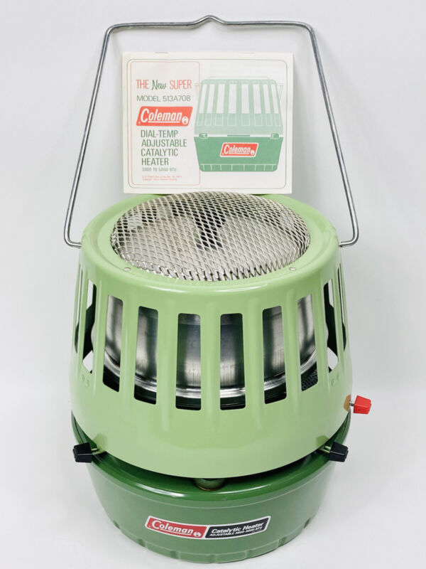Coleman Heater Model 513A708 Dial Temp Catalytic Absolutely Pristine Condition!