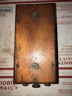 Antique Laboratory Buzz Coil Hit Miss Engine Top Terminals