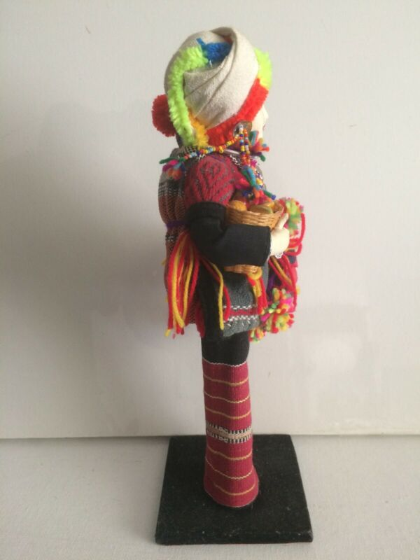 Vintage Authentic 12 Inch Hilltribe Doll Of The Thai Payap On Stand  - $24.99