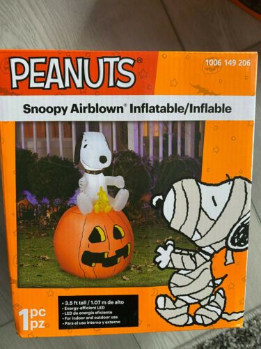 Halloween Inflatable - Snoopy on Pumpkin - Peanuts - New - Gemmy - Free Shipping