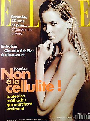 ELLE French 2715 - January 1998 - Claudia Schiffer (Non a la Cellulite)