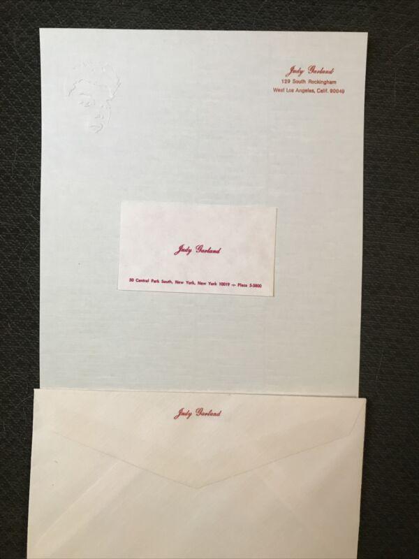 Judy Garland - Original Personal Stationary Set 1960's . Rare