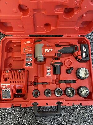 Milwaukee 2676-22 Force Logic M18 10t Knockout Tool 12 - 2 Kit Pre-owned