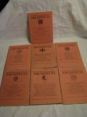 Seven 1950's Journal of The American Institute of ARCHITECTS