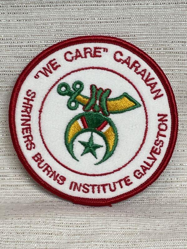 VINTAGE SHRINERS BURNS INSTITUTE Galveston We Care Caravan Patch
