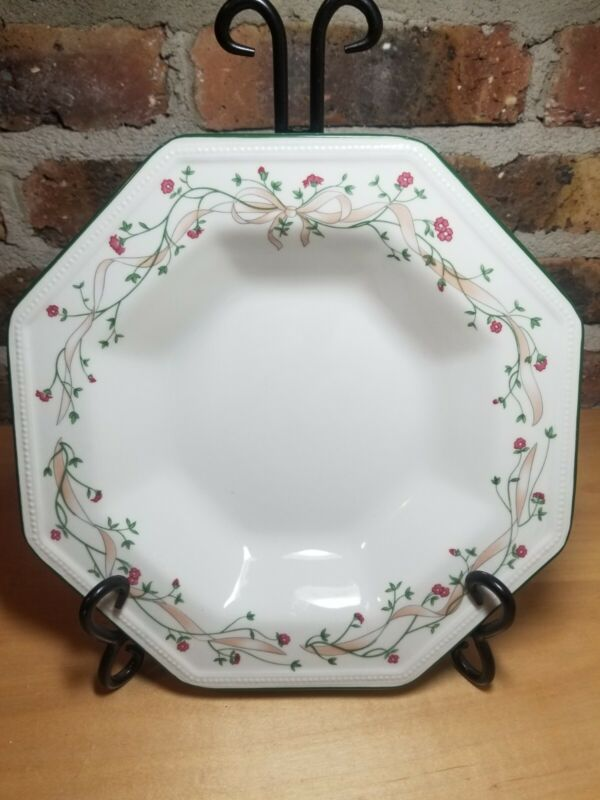 Johnson Brothers Eternal Beau Flat Rimmed Soup Bowls/Pasta Plate Made In England
