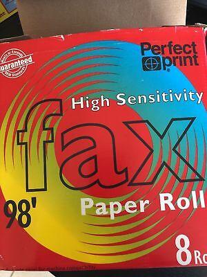 8 Rolls Fax Paper Perfect Print High Sensitivity 8 12 X 98 12 Core